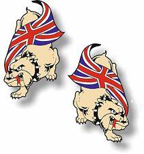 Vinyl sticker/decal Extra small 50mm Bulldog union jack - pair