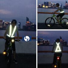 New High Visibility Reflective Vest Safety Belt Running Walking Cycling Biking