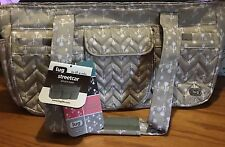 LUG STREETCAR SHORT TOTE BAG  ORCHARD PRINT SAND TAUPE  / TAN  NEW