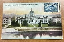 {BJ Stamps}  CANADA #99 1908 5¢ Dark Blue Quebec RARE on cover ,nice postcard