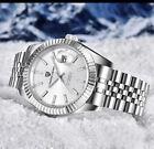 PAGANI Luxury 24 Jewles Steel Mechanical Men Watch Glass Back Jubilee Bracelet