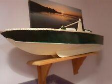 "RARE 36"" classic wooden fairy huntsman straight runner rc boat."