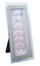 """3D WITH LOVE """"THANK YOU"""" GLASS PLAQUE WITH SENTIMENTAL VERSE BEAUTIFUL GIFT BNIB"""