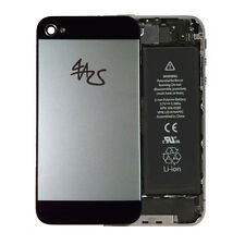 iPhone 4 Backcover Rückschale Gehäuse Akkudeckel Glas Schwarz Silber 5 Optik