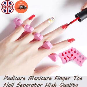 Toe finger Separators Sponge Foam Soft Pedicure Manicure Nail Polish 20 Pcs UK