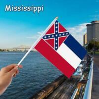 Mississippi Flag House Banner Grommets Super Polyester 14*21cm N7H4