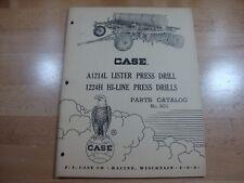Case A1214L 1224H Press Drill Parts Manual Catalog Lister 1959 801