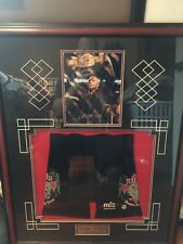 Autographed & Framed Georges St. Pierre Fight Shorts