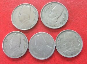 5 EGYPT COINS 1933-41
