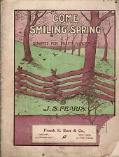 Come Smiling in Spring Sheet Music   1901   J.S. FEARIS
