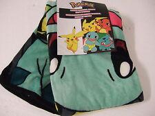 NWT Pokemon Pikachu Charmander Squirtle Anime NES 46x60 Plush Throw Blanket