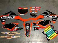 Ktm SX / SXF 250 350 450  Graphics kit Fits 2016 2017 2018 Hitachi MXGP Team