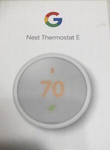 Nest Thermostat E, T4000ES Smart Thermostat, White