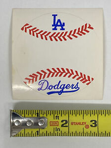 Early Vintage 1970s Original Dodgers Baseball Sticker Decal