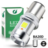 H6 BA20D LED Motorcycle Headlight Bulb 2000LM Superbright Hi/Lo Beam 6000K White