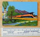 SOUTHERN PACIFIC LINES RAILROAD DAYLIGHT VINTAGE PLAYING CARD COLOR PAINTING