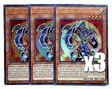 YuGiOh, 3X, Crusader of Endymion, BLLR-EN048, Ultra Rare, 1'st Edition New, Mint