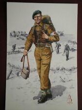 POSTCARD ROYAL ARMY MEDICAL CORPS 45 ROYAL MARINES COMMANDO 1944 ALIX BAKER