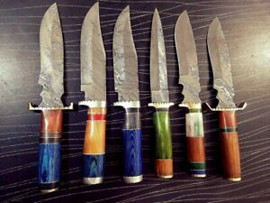 Custom Handmade Steel Damascus Mughal Edge Dagger Set
