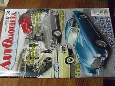 8µ? Revue Automobilia n°58 Talbot 4 cyl Alfa Giulietta  Autochenille Citroen