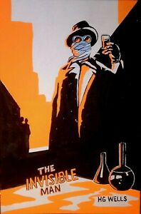 """4"""" BY 6"""" ORIGINAL ACRYLIC PAINTING, """"THE INVISIBLE MAN"""" signed by artist"""