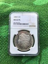 1880-S Morgan Dollar MS-62 PL