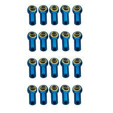 20Pcs M3 Aluminum Link Head Rod End Ball Joints  for 1/10 RC Car Crawler