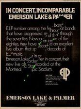 ELP Emerson Lake & Palmer UK Promo LP advert 1979 XCVS