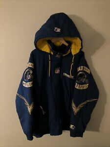 Vintage 90's San Diego Chargers Starter Puffer Jacket Men's Size XL