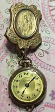 Vtg Esprit F.A Hirsch GF Pocket Watch Brooch Pin-Not Working-Estate