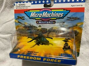 MICRO MACHINES MILITARY FREEDOM FORCE US APACHE HELICOPTER AIRCRAFT SPECIAL OPS