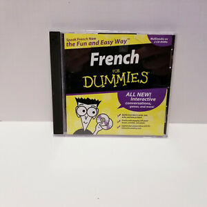 French For Dummies 2 CD-Roms Interactive Learn How To Read Write Listen Windows