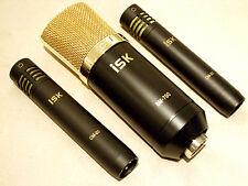 iSK Studio Set 3 piece Condenser Microphone Set + 6 meter XLR Leads