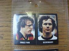 1979/1980 Football Sticker 79/80: 373) West Germany - Beckenbauer & 482) Partick