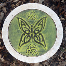 "Celtic gothic butterfly mold stepping stone 10"" x 1.5""  plaster concrete mould"