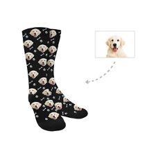 Custom Pet Face Dog Bone Turn Your Photo into Crew Socks Unisex