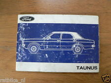 FORD TAUNUS 1972 ?   HANDLEIDING OWNERS MANUAL,INSTRUCTION BOOK