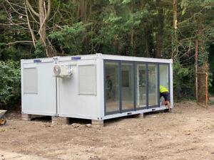 20ft x 16ft NEW SALES OFFICE 2 BAYS MODULAR BUILDING MARKETING UNIT 21 750 + VAT