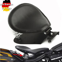 Motorrad Solo Sitz Schwingsattel+ Sitzfedern + Grundplatte für Harley Sportster