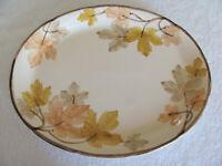 """Franciscan China October- Leaves, Brown Trim - Oval Serving Platter  14"""""""