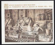 FOGLIETTO 1984 Nuovo  IPZS 1912 LA FONDERIA ZECCA ROMA BELLO