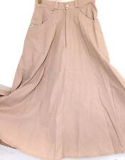 Full Maxi Skirt Western Jr Sz 5/6 Semi Circular-TAN Cotton Front Zip Fly  Long