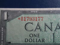 1954 Canada 1 Dollar Replacement Bank Note-*BM1793177-  20-580