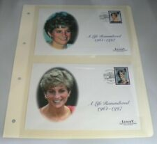 More details for 2 x diana a life remember luxury first day covers on album sheet