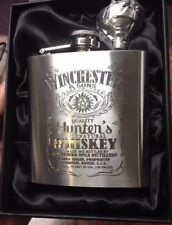 Supernatural HIPFLASK Sam & Dean Winchester Stainless Steel 6 oz hip flask NEW