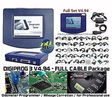 Digiprog 3 V4.94 Set Completo-corrección de kilometraje del odómetro Eeprom programador Cables