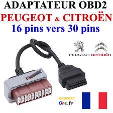 Câble Adaptateur PSA Obd Obd2 vers 30 pins Prise F Citroen Peugeot