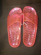 American Eagle Women's Size 7 Pink Clear Jelly Slides