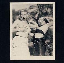 NUDE WOMEN'S OUTDOOR FUN / NACKTE FRAUEN HABEN SPASS * Vintage 50s US Photo #2