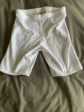 New listing Mens Thin White Spandex Compression Shorts with Drawstring Large L